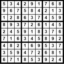 Lösung Sudoku 6