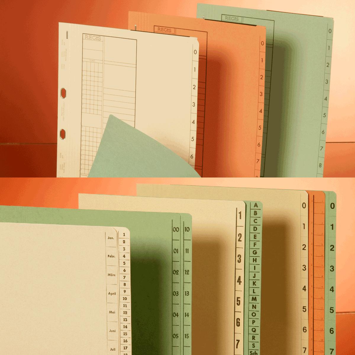 Hefter und Trennblätter